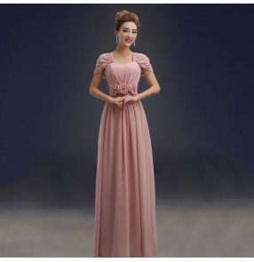 Women's pink color several styles bridesmaid dress wedding party evening dress
