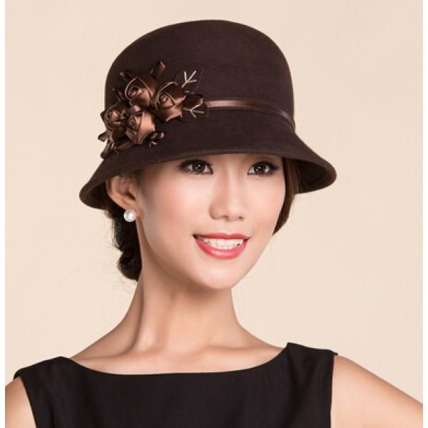 Fedoras & Hats : Women's Short Brim 100% Wool Handmade