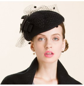 d3613c7c3f9 Women s socialite party 100% handmade wool fedoras fascinators wedding  pillbox hat