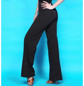 Women's striped latin dance pants