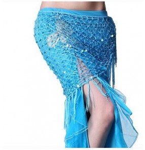 Women's triangle tassel belly dance hip scarf belly dance costume only hip scarf
