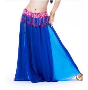 Women's two colors full skirted belly dance skirt dance costume without waistband