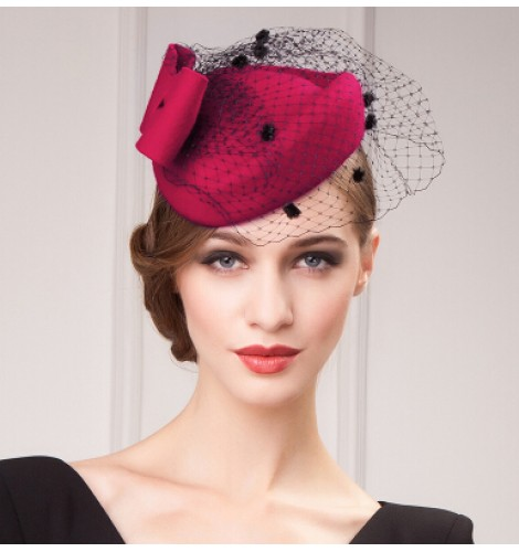 a4da44067e4 Women s vintage fascinators pillbox hat wedding top dress hat 100 ...