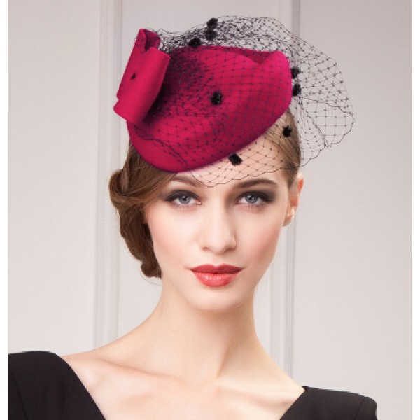 Women 39 s vintage fascinators pillbox hat wedding top dress for Dress hats for weddings