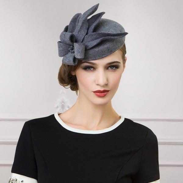 Womens Lady Vintage Fascinator Wool Hair Pillbox Hat Bowknot Veil ... 090e47e881f