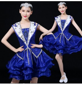 Jazz dance costumes for female women camouflage sexy gogo dancers cheer leaders hiphop singer stage performance tops and shorts