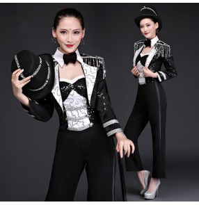 Jazz dance costumes for women Adult magician costume suit gogo dancers modern dance crutches hip-hop jazz dance clothing tap costumes Tops and pants