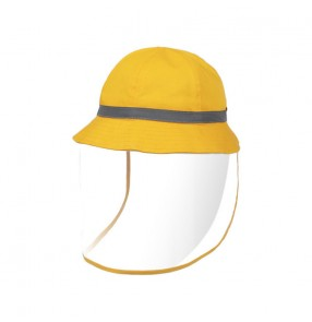 kids Anti-spray saliva fisherman's cap direct splash proof Luminous band safety protective hat for boy and girls