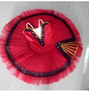 Kids ballet dresses tutu skirts pancake skirts classical ballerina stage performance ballet dresses costumes