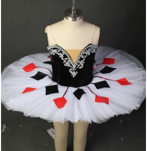 Kids children ballet dress modern competition professional classical tutu skirts stage performance costumes dress