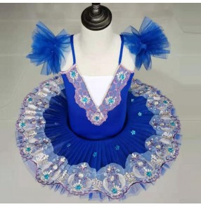 kids children white swan lake ballet dance dresses classical stage performance competition ballerina ballet dress costumes