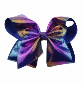 Kids girls Cheerleading stage performance laser glitter Bow Hair Clip Girls Hair Accessories 8inch in width