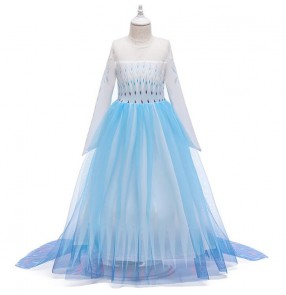 kids girls snow queen frozen fairy princess performance dresses children cosplay dress