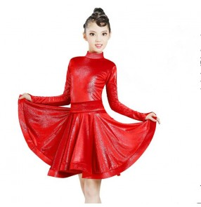 kids royal blue competition latin dance dresses children ballroom dance dresses salsa rumba samba dance skirts dress
