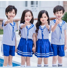 kindergarten primary performance school uniforms boys and girls chorus sailor stage performance cosplay outfits