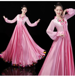 Korean dance costume hanbok Korea Dae Jang Geum traditional palace princess dress costume female