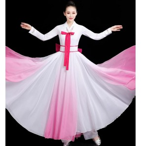 Korean dance Korean fan dance costume Hanbok costume suit traditional ethnic style Korea Dae Jang Geum Traditional skirt