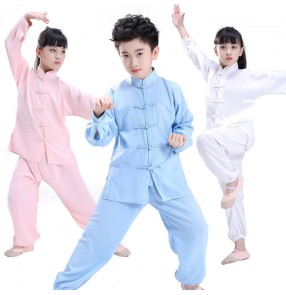 kungfu taichi uniforms for children Chinese Traditional Wushu uniforms for Kids Martial Arts Uniform Kung Fu Suit for Girls Boys