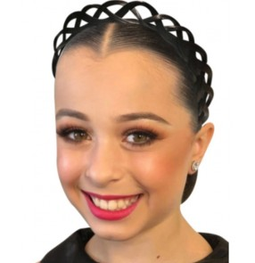 Latin ballroom competition dance hair accessories crown headband for girls adult competition professional headwear performance plate hair band