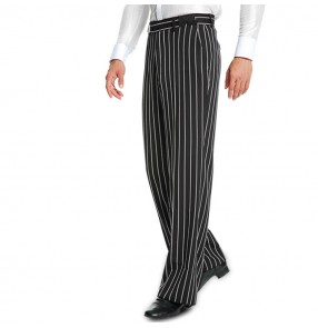 latin dance pants for men's male competition stage performance ballroom tango waltz striped England long trousers