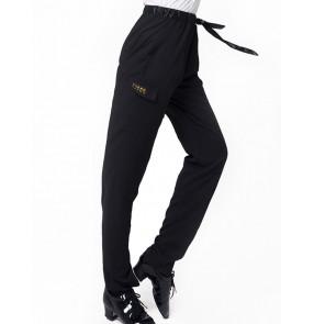 Latin dance pants Male Adult Elastic Waist Pocket Pants Ballroom Dance Practice Pants Loose Dance Pants