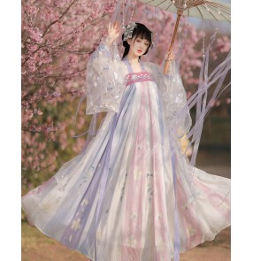 light purple Hanfu for women Chinese Traditional Folk Costumes Han Dynasty Dance Wear Lady princess Fairy Cosplay Clothes Oriental Ancient Princess Suit