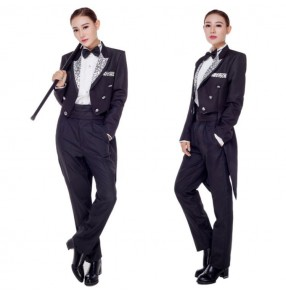Male and female magician performance costumes tuxedo coats band conductor moderator host performance costumes