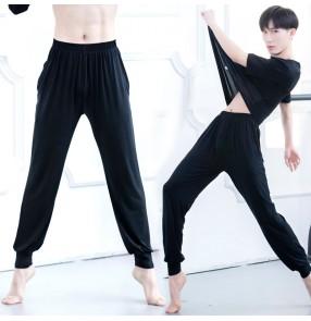 Male Modern ballet latin dance practice Long pants Modal harem Yoga Lantern Latin jazz dance long pants for men
