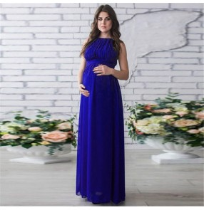 Maternity Dress for pregnant women Photography Photo Shoot Maxi chiffon Gown