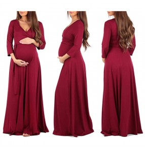 Maternity dress pregnant women pregnancy casual clothing max dresses for pregnant women