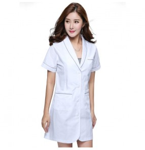 Medical Surgical white Uniforms for women pharmacy Hospital Nurse Tops Breathable Beauty salon Dentistry Pet doctor overalls