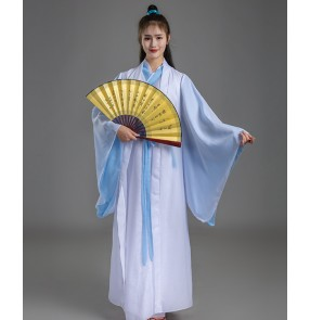 men Chinese traditional Hanfu stage performance tang scholar swordsmen warrior drama cosplay dresses robes