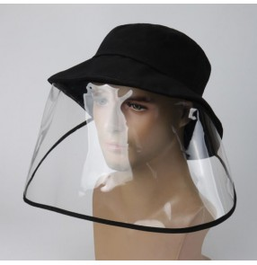 Men's anti-spray saliva fisherman's cap with face shield  dust virus proof safety protect sun hat
