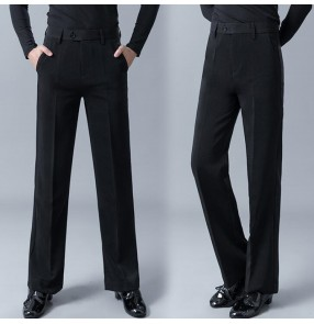 Men's ballroom latin dancing pants male flamenco waltz tango dancing pants trousers stage performance rumba chacha dance dresses