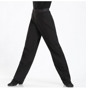 Men's ballroom latin waltz tango dancing pants jive salsa competition long trousers