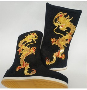 men's boys Chinese hanfu dragon boots Emperor boots Tang Dynasty minister swordsman boots ancient shoes men official boots emperor dragon boots