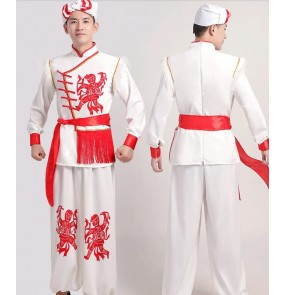 Men's Chinese folk dance clothing Traditional Shaanxi folk song costume Yangko costume Opening dance and drumming costumes