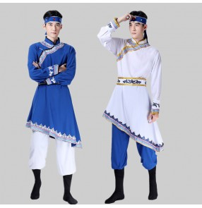 Men's Chinese Mongolian dance costume adult chopstick dance robes men's mongolia dance costume minority stage Performance clothing