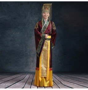 Men's hanfu Chinese folk dance costumes ancient traditional tang han emperor cosplay robes dresses costumes