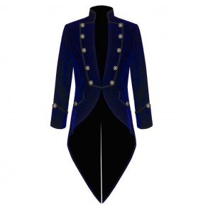 Men's jazz dance coats male model show blazers tuxedo coats host singer chorus stage performance tuxedo tops