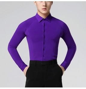 Men's latin dance shirts chemises latines pour hommes ballroom tango waltz chacha jive dance tops shirts