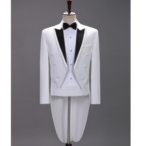 Men's magician performance tuxedo coats suits male vocal music art examination dresses blazers host stage magician performance costumes
