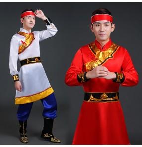 Men's Mongolian dance costumes chinese minority mongolia dance costumes robes dresses