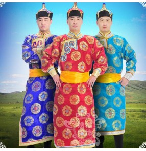 Men's Mongolian dance robes stage performance drama cosplay mongolian national clothing men's stage performance Mongolian robe for male