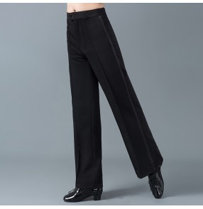 Men's summer latin ballroom dance pants male professional stage performance competition waltz tango dancing trousers pants