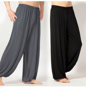 Men's yoga wear bloomers trousers modal large size loose casual morning exercise Tai Chi clothing meditation clothing summer