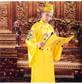 Ming Dynasty Emperor film cosplay Dragon Robe Men's ming Suit Zhu Yuanzhang Ancient Costume Hanfu Embroidered Yellow Robe Prince's Python Robe