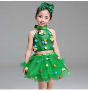 Modern dance spring jazz dance dresses for girls boys kids school princess baby ballet stage performance show dance outfits