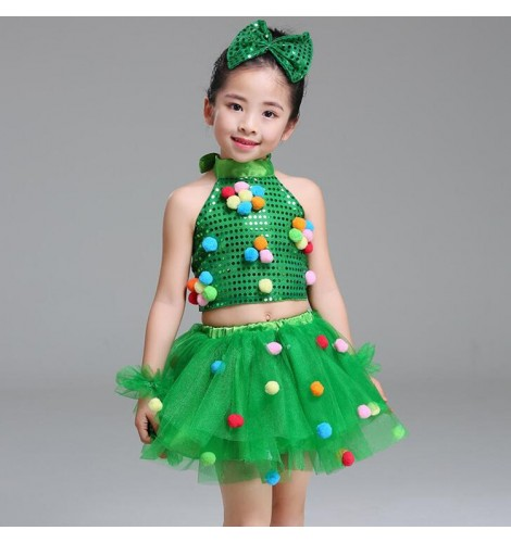 acc9e9cd4 Modern dance spring jazz dance dresses for girls boys kids school princess  baby ballet stage performance show dance outfits