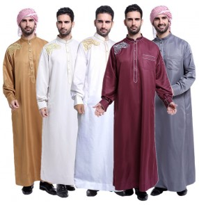 Muslim Arab Middle Eastern Men's Robe Stage performance drama cosplay men's Arabia robes